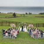 outdoor wedding ceremony seafield hotel wedding