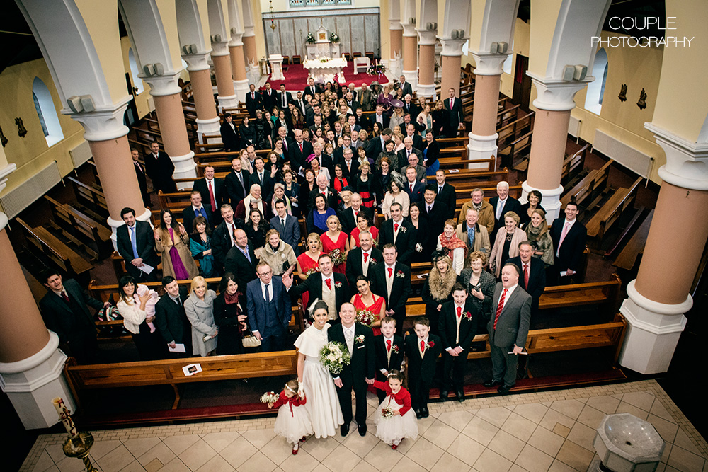 large wedding party photography
