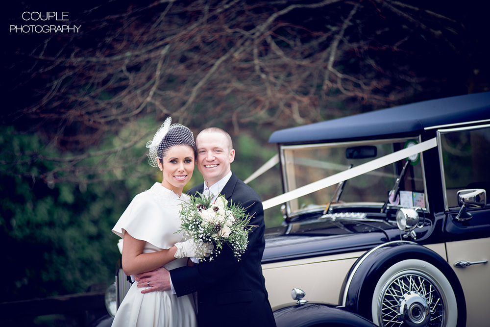 vintage wedding car mohill