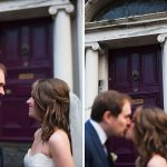 pery square georgian doorway couple kiss wedding photography
