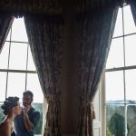 castle, durrow, wedding, bride, make-up, morning, window