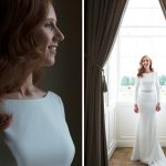catle, durrow, bride, wedding, window, beautiful