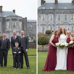 Castle, Durrow, Wedding, bridesmainds, bride, groom, groomsmen, garden, grounds, spring