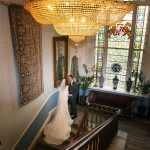 Castle Durrow Wedding staircase bride