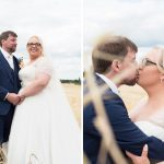 photo of bride and groom in cornfield at clanard court wedding, irish weddings, couple photography