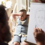 caricature artist at wedding, clanard court hotel wedding, couple photography