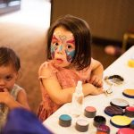 kids face paint at wedding, clanard court hotel couple photography