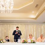 wedding speeches at clanard court hotel, guests reactions, wedding photography by couple photography