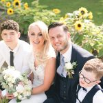 cliff at lyons wedding, family photo wedding, irish summer wedding, sunflowers