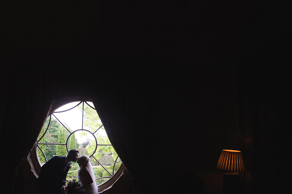 round window wedding at cliff at lyons