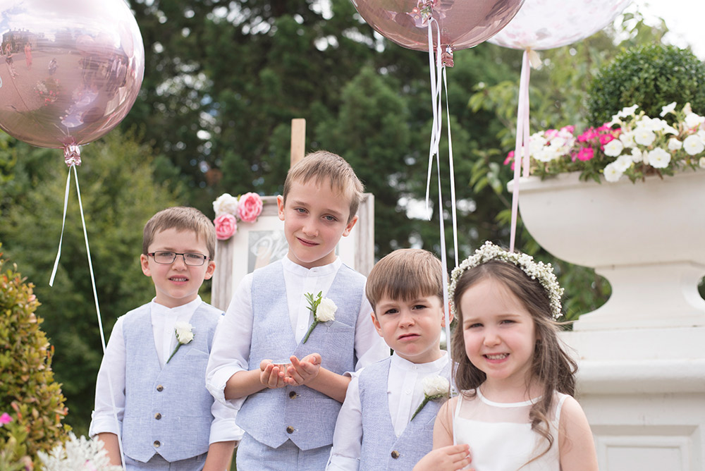 junior bridal party at tinakilly country house wedding