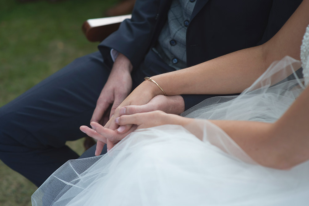holding hands tinakilly country house wedding