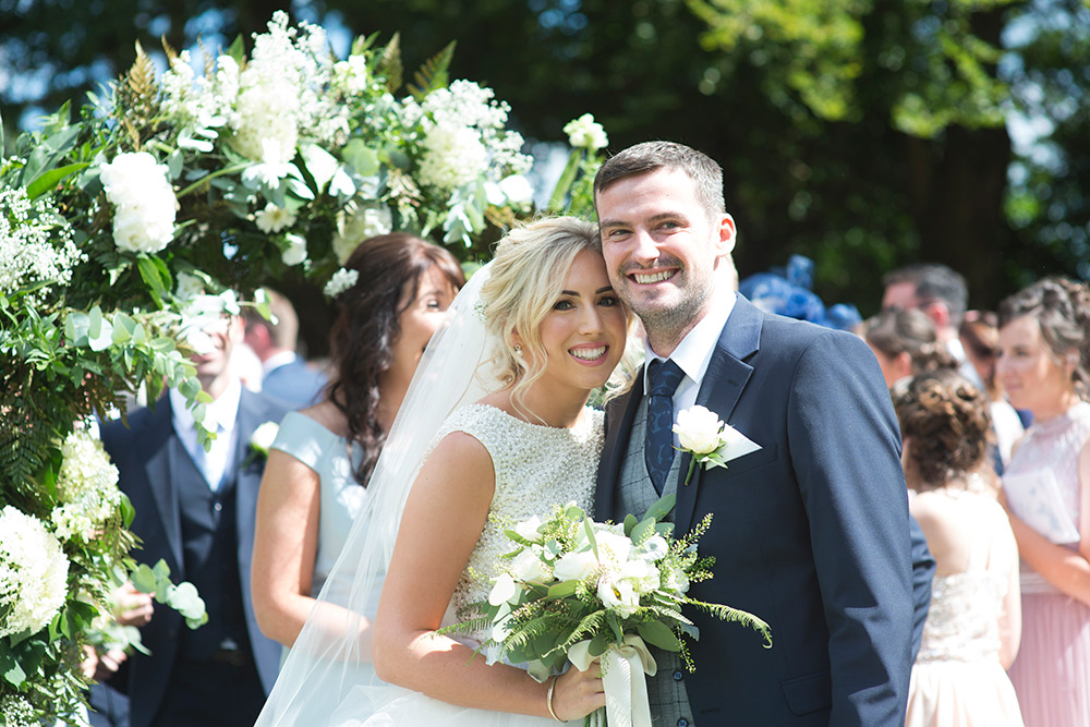 just married tinakilly country house hotel wedding