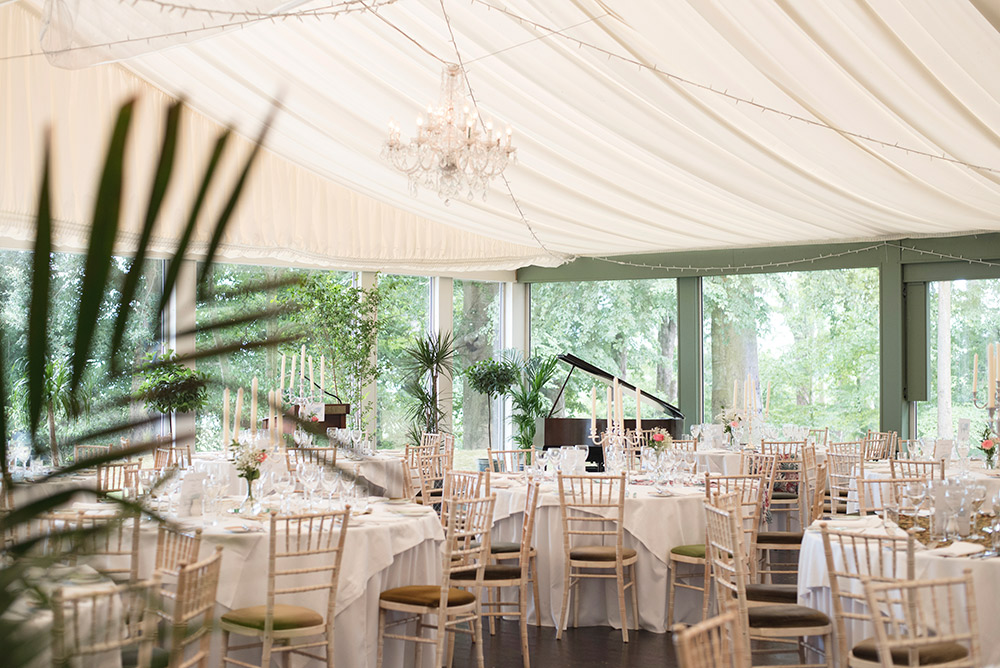table layout tinakilly country house hotel wedding
