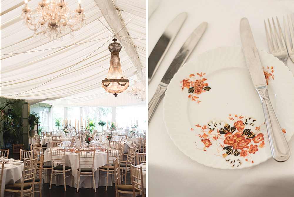 wedding table layout tinakilly country house hotel wedding