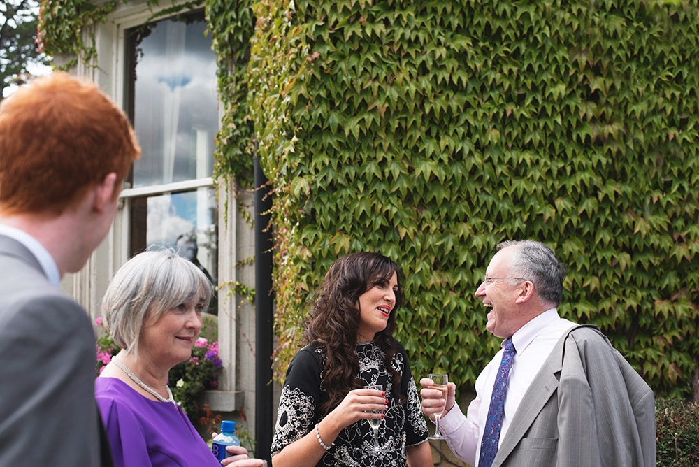 outdoor drinks reception tinakilly country house