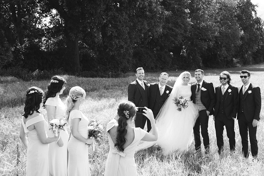 cornfield beside tinakilly country house wedding