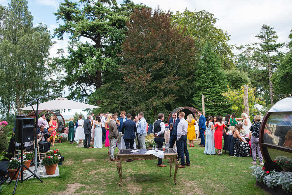 outdoor wedding reception at tinakilly country house