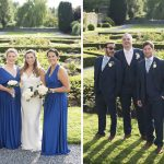 bridal party, sunny wedding, Kilkea Castle Wedding Photography