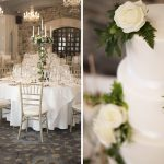 kilkea castle banquet room, wedding cake details, kilkea castle wedding photography