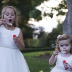 flower girls blowing bubbles, natural photography, Kilkea Castle Wedding Photography