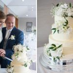druids glen wedding photography, bride and groom cutting wedding cake, couple photography