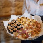 canapes at Durrow Castle Wedding