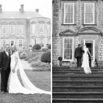 bride and groom on grounds of durrow, Durrow Castle Wedding