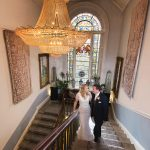 Durrow Castle Wedding staircase photo