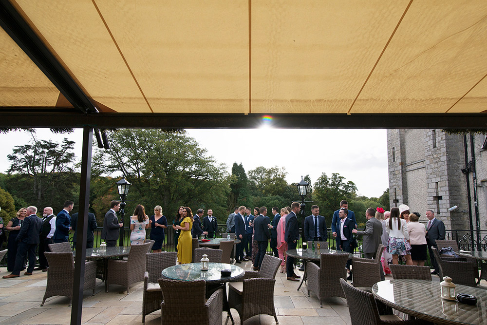 outdoors at wedding in cabra castle
