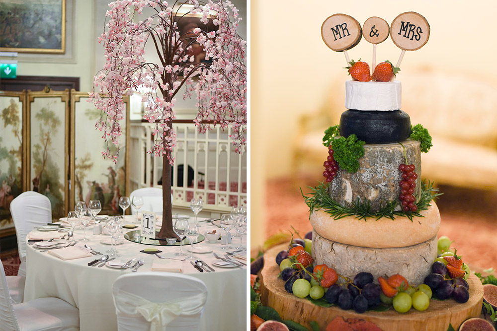 cheese cake at cabra castle wedding