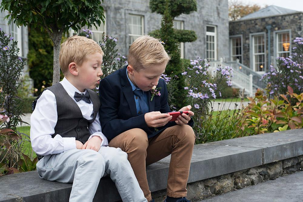 wedding at castle durrow grounds