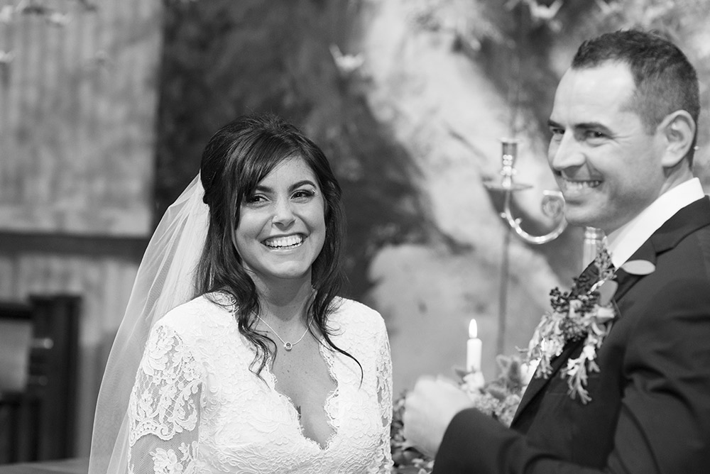 happy couple at wedding at mount druid