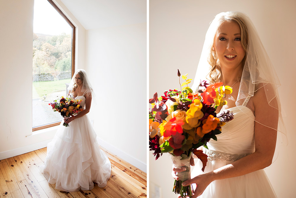 bridal portrait for wedding kippure estate