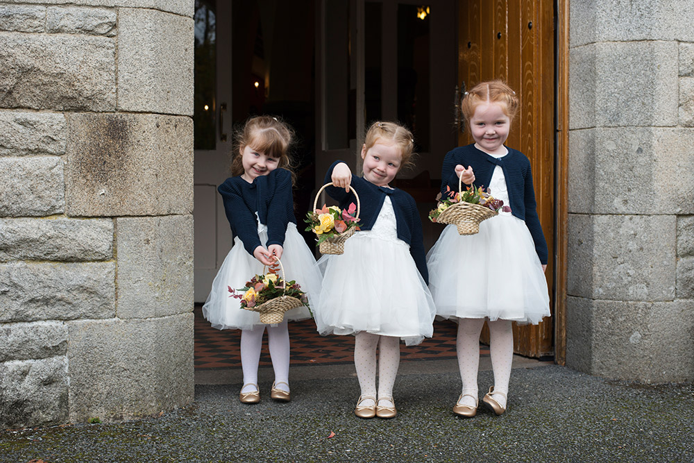 flower girls st brigids church wedding