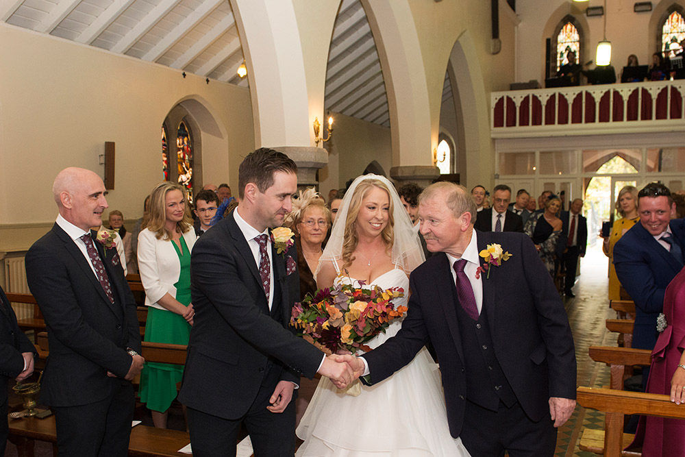wedding at st brigids church wicklow