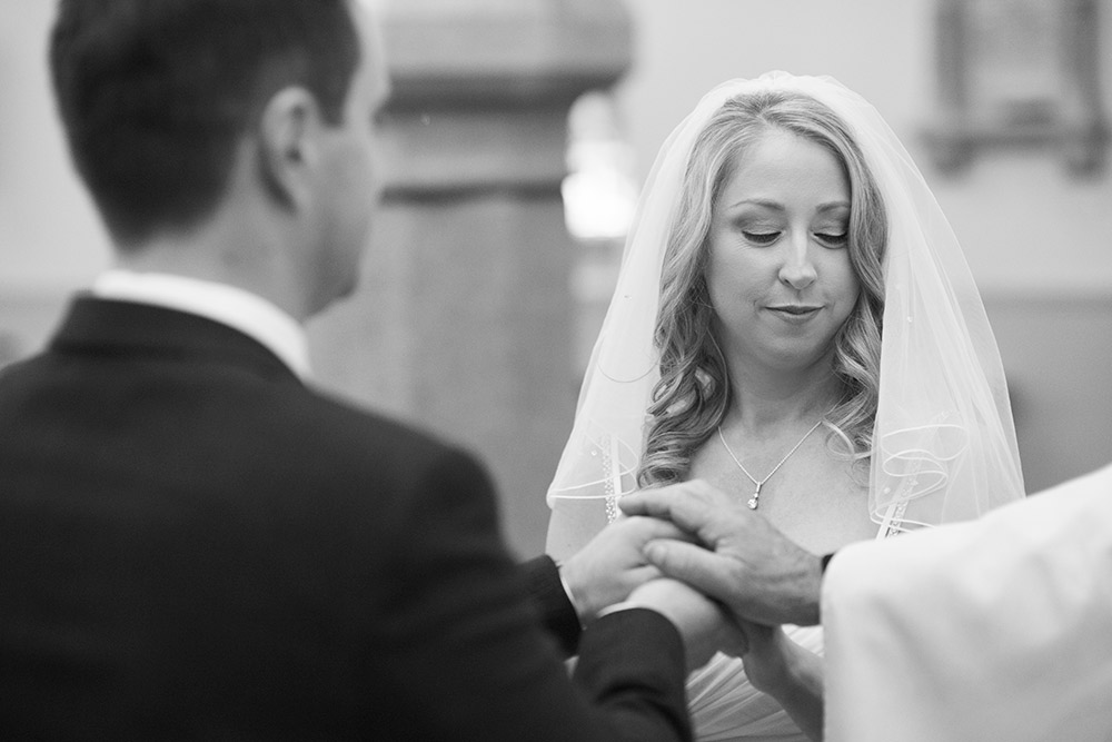 exchange of rings st brigids church wedding