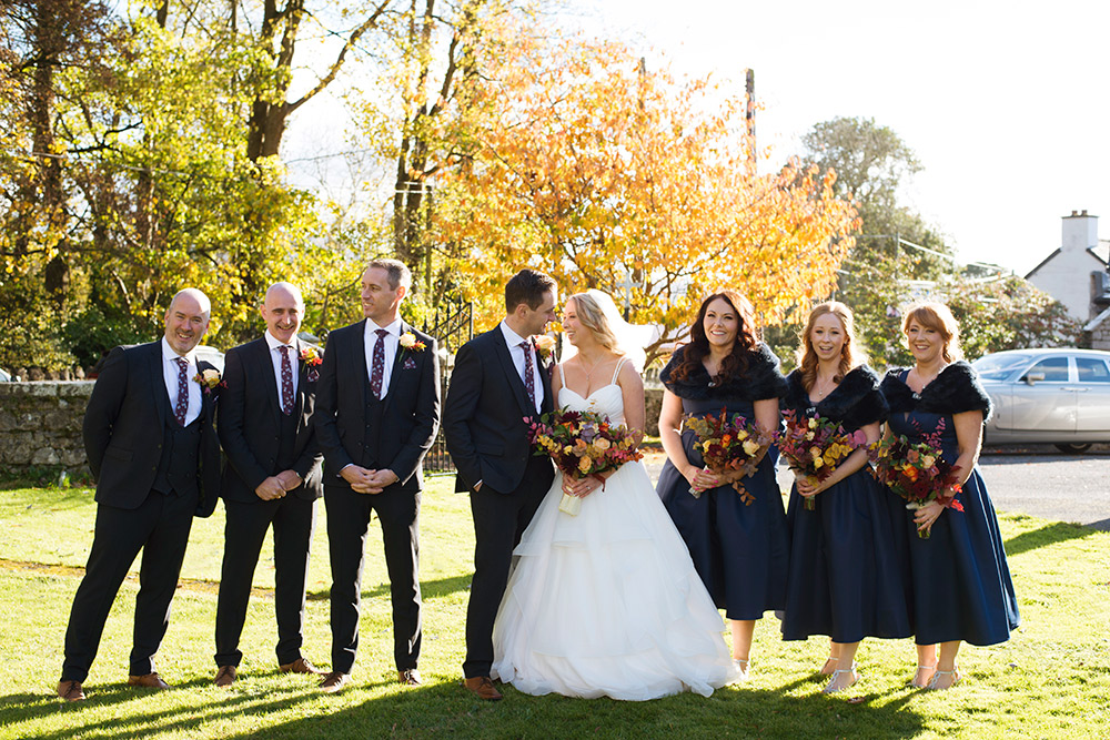 bridal party wedding st brigids church wedding