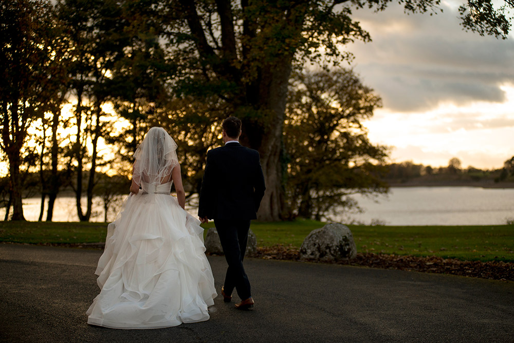 tulfarris hotel wedding at the lake