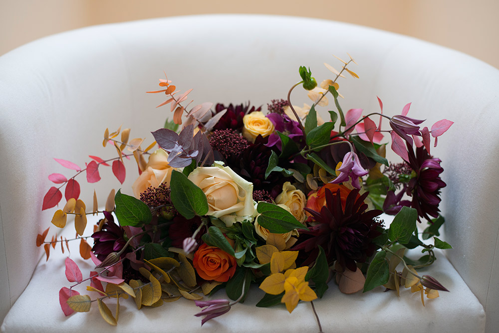 autumn bouquet wedding kippure estate