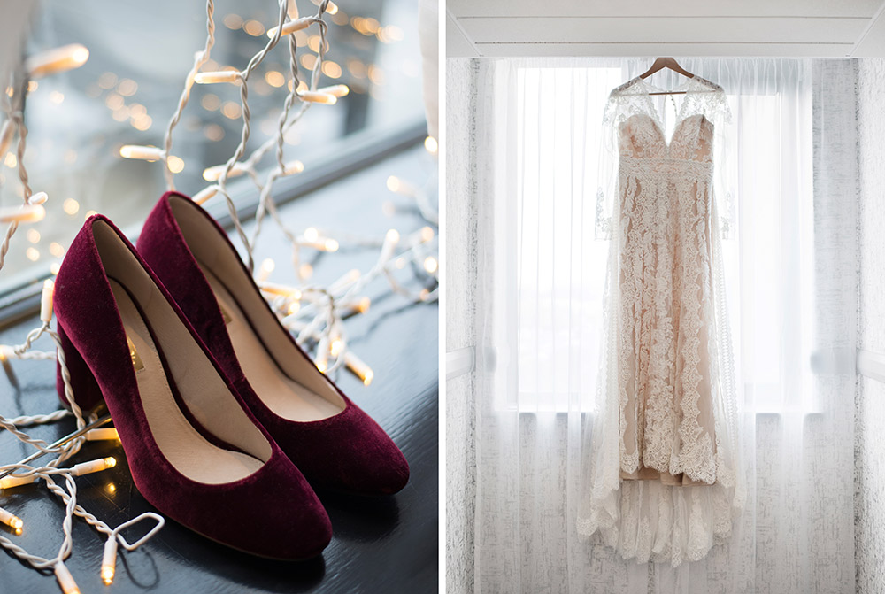 wedding shoes and dress for elopement in dublin