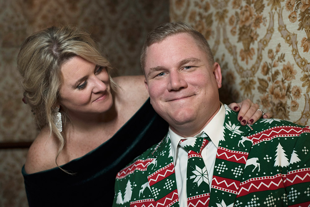fun christmas suits for wedding in ireland