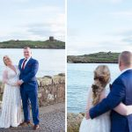wedding couple by the sea dublin martello tower