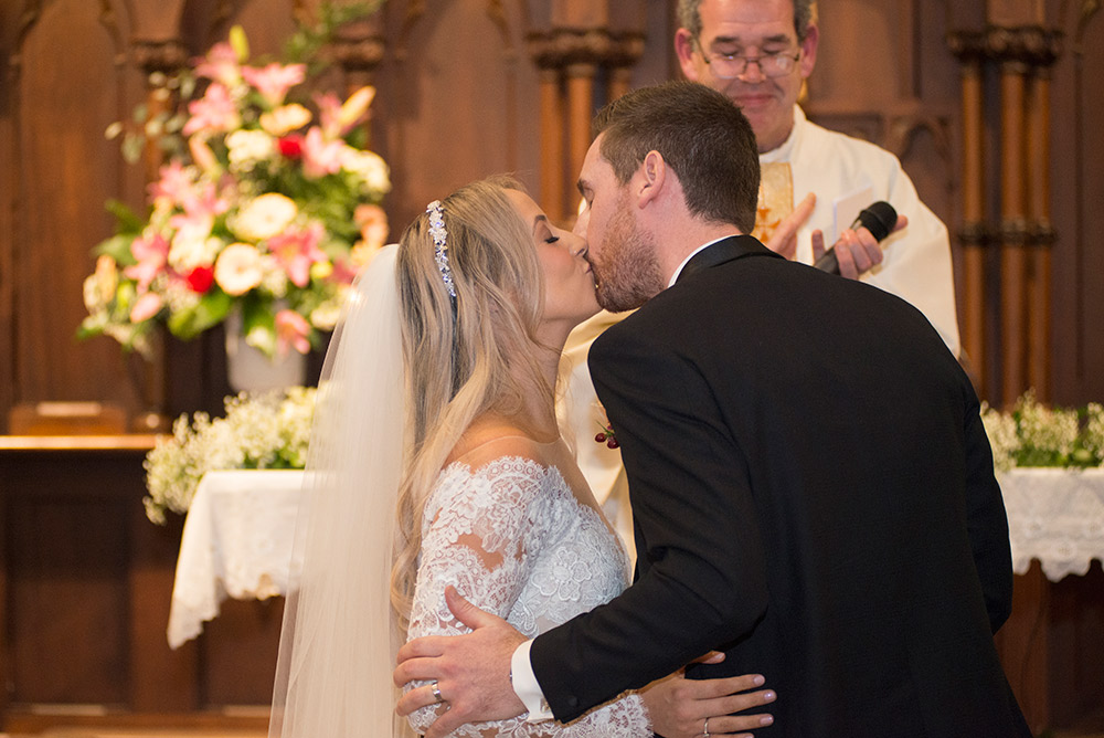 first kiss wedding at Marlfield House