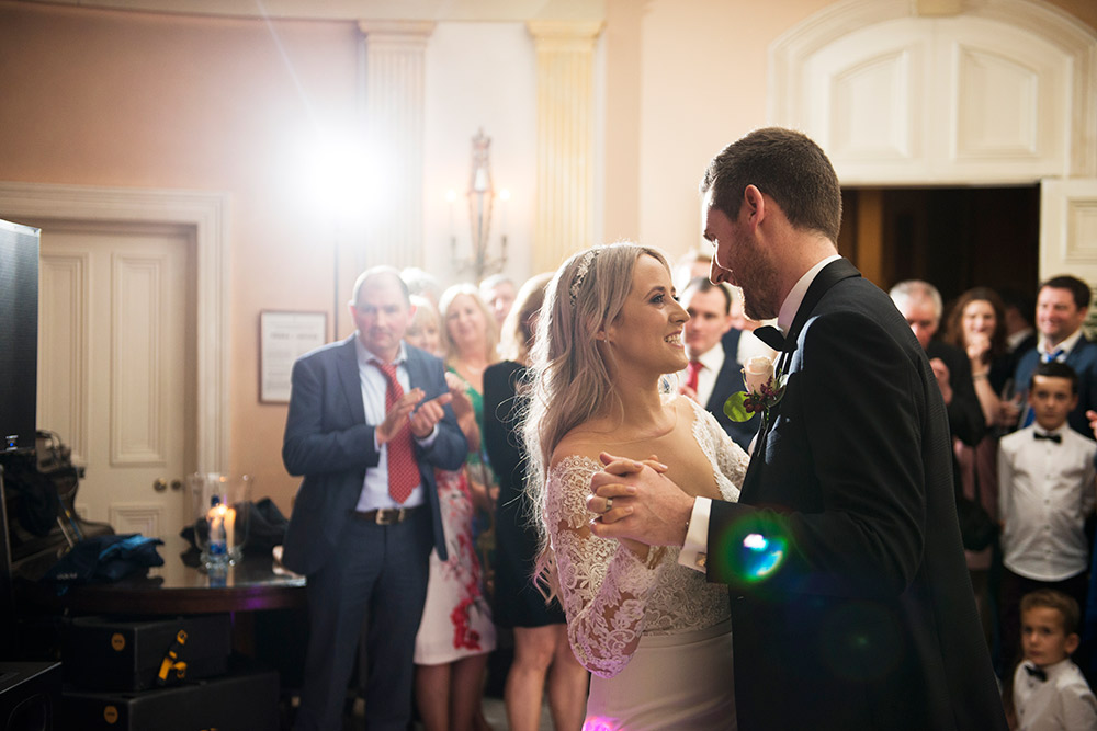 bride and groom first dance marlfield house wedding