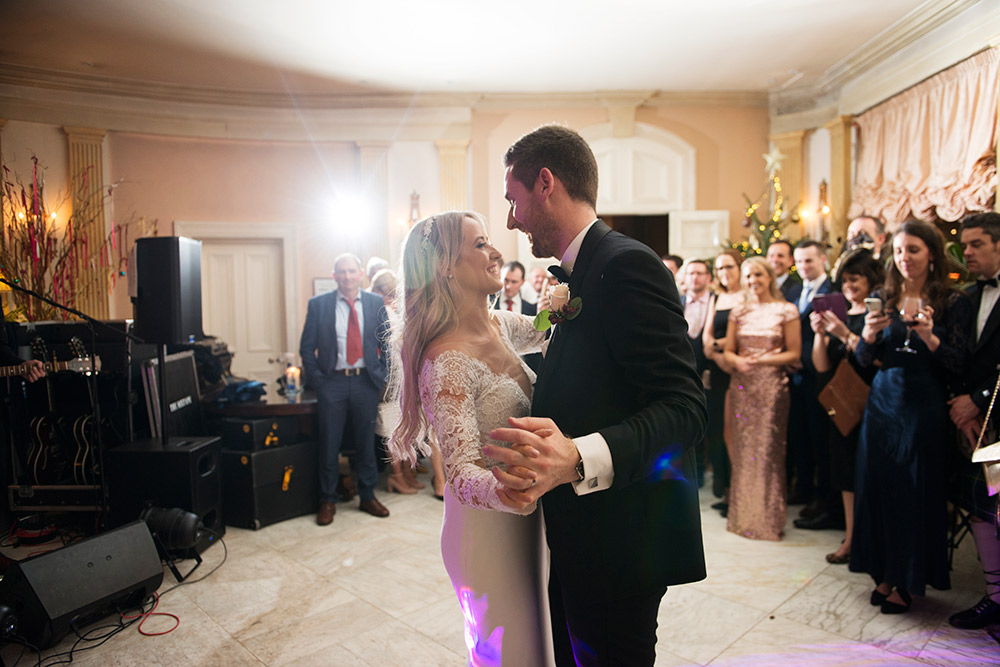 first dance at marlfield house wedding