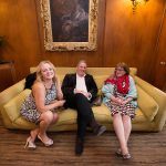 happy guests on the couch at rathsallagh wedding
