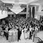 group photo of all wedding guests at Knightsbrook Hotel Wedding