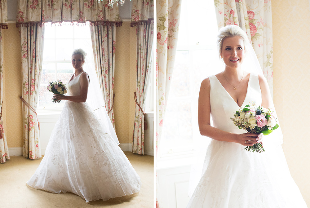 bridal portraits barberstown castle wedding