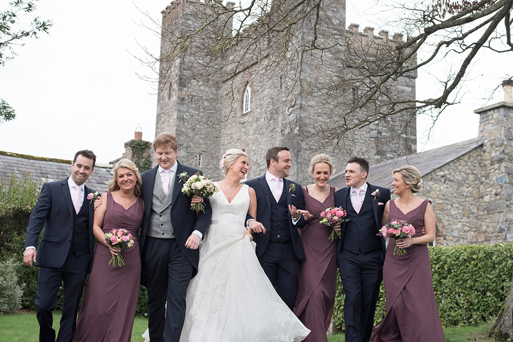 barberstown castle outdoor wedding photos